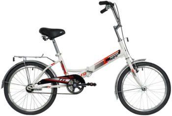 """140920 2 350x237 - Велосипед NOVATRACK 20"""" TG-20 classic 2,0, складной, белый, торм 1руч и нож, двойной обод, сидение комфорт и руль, рама - 14"""""""