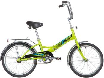 """140922 2 350x263 - Велосипед NOVATRACK 20"""" складной, TG-20 classic 1,0, зеленый, тормоз нож, двойной обод, багажник, рама - 14"""""""