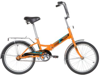 """140923 2 350x262 - Велосипед NOVATRACK 20"""" складной, TG-20 classic 1,0, оранжевый, тормоз нож, двойной обод, багажник, рама - 14"""""""