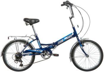 "140924 2 350x244 - Велосипед NOVATRACK 20"" TG-20 classic 3,0 складной, синий, 6 скор,Shimano TY-21, тормоз V-brake, багажник, рама - 14"""