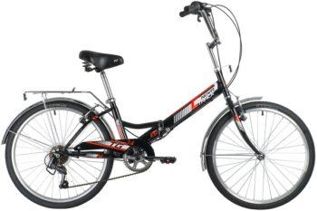 """140926 2 350x233 - Велосипед NOVATRACK 24"""" TG-24 classic 3,0 складной, чёрный, 6скор, Shimano TY-21, тормоз 2руч,, рама - 14,5"""""""