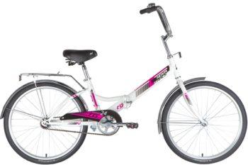 """140928 2 350x233 - Велосипед NOVATRACK 24"""" TG-24 classic 1,0 складной, TG, белый, тормоз нож, двойной обод, багажник, сидение комфорт, рама - 14,5"""""""