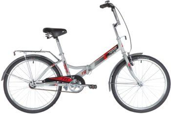 """140929 2 350x234 - Велосипед NOVATRACK 24"""" TG-24 classic 2,0 складной, TG, серый, тормоз нож, двойной обод, багажник, сидение комфорт, рама - 14,5"""""""