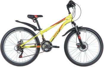 "145847 2 350x225 - Велосипед NOVATRACK 24"" ACTION 18,D зеленый,  стальная рама 11"", 18 скор,, Shimano TZ500/RS35, дисковый т, рама - 11"""