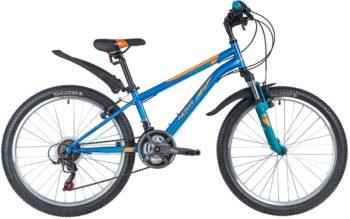 "145850 2 350x219 - Велосипед NOVATRACK 24"" ACTION 18,V синий,  стальная рама 12"", 18 скор,, Shimano TZ500/RS35, V- brake тор, рама - 12"""