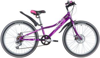 "145851 2 350x204 - Велосипед NOVATRACK 24"" ALICE 6,V лиловый,  стальная рама 10"", 6 скор,, Shimano TY21/Microshift TS38, V-, рама - 10"""