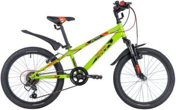 "145874 2 350x218 - Велосипед NOVATRACK 20"" EXTREME 6,V зеленый,  сталь, 6 скор,, Shimano TY21/Microshift TS38, V- brake тор, рама - 12"""