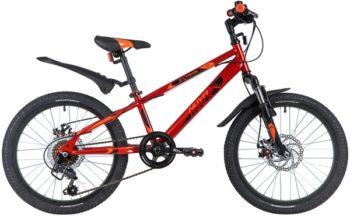 """145875 2 350x217 - Велосипед NOVATRACK 20"""" EXTREME 6,D красный,  сталь, 6 скор,, Shimano TY21/Microshift TS38, дисковый тор, рама - 12"""""""