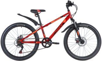 "145882 2 350x209 - Велосипед NOVATRACK 24"" EXTREME 6,D красный,  стальная рама 12"", 6 скор,, Shimano TZ500/Microshift TS38,, рама - 12"""