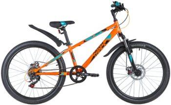 "145884 2 350x215 - Велосипед NOVATRACK 24"" EXTREME 6,D оранжевый,  стальная рама 12"", 6 скор,, Shimano TZ500/Microshift TS3, рама - 12"""