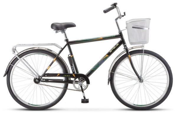 "200 chernyy 600x383 - Велосипед Стелс (Stels) Navigator-200 Gent 26"" Z010 , Сталь , р. 19"", цвет Чёрный"