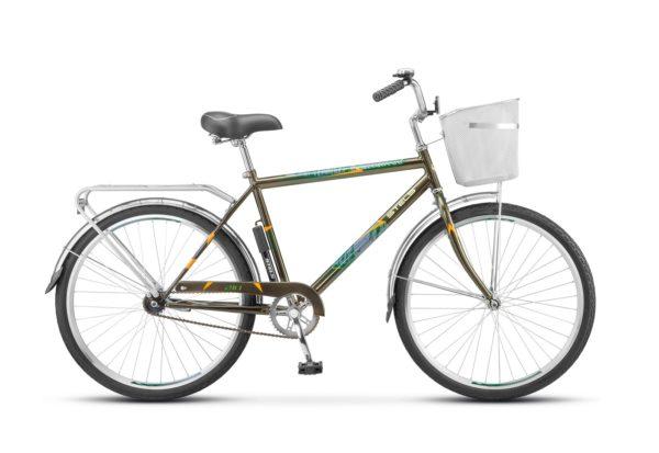 "200 olivkovyy 1 600x413 - Велосипед Стелс (Stels) Navigator-200 Gent 26"" Z010 , Сталь , р. 19"", цвет Оливковый"