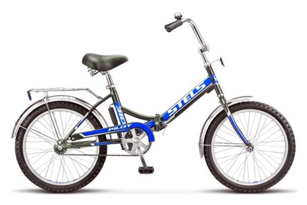 "310 chernyy siniy 600x400 - Велосипед Стелс (Stels) Pilot-310 20"" Z011, Сталь , р13"", цвет  Чёрный/синий"