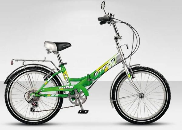 """350 zelenyy 600x431 - Велосипед Стелс (Stels) Pilot-350 20"""" Z011, Сталь  , р13"""", цвет  Зелёный"""