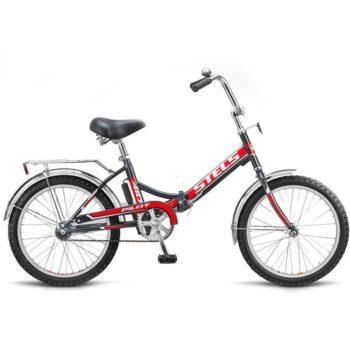 """410 chernyy krasnyy 350x350 - Велосипед Стелс (Stels) Pilot-410 20"""" Z011, Сталь  , р. 13,5"""", цвет  Чёрный/красный"""
