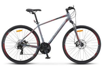 "Cross 130 MD Gent 28 V010 gray 350x228 - Велосипед Стелс (Stels)Cross-130 MD Gent 28"" V010 , Алюминий , р. 20"", цвет Серый"