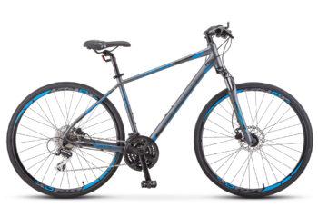 "Cross 150 D Gent 28 V010 anthracite 350x228 - Велосипед Стелс (Stels) Cross-150 D Gent 28"" V010 , Алюминий X6, р. 17"", цвет Антрацитовый"