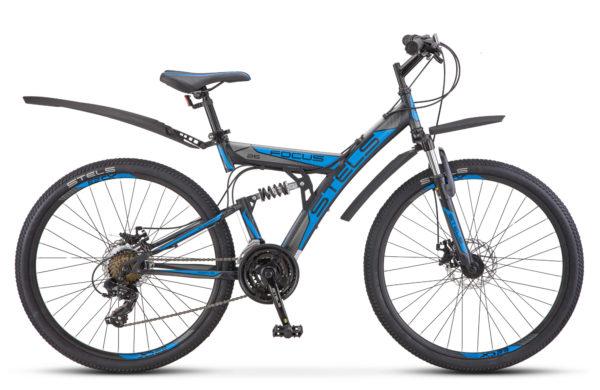 "Focus MD 26 21 sp V010 black blue 600x390 - Велосипед Стелс (Stels) Focus MD 26"" 21-sp V010 , р 18"", цвет  Черный/синий"