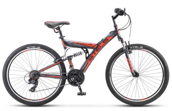 """Focus V 26 18 sp V030 black red 600x390 - Велосипед Стелс (Stels) Focus V 26"""" 18-sp V030 , р 18"""", цвет  Черный/красный"""