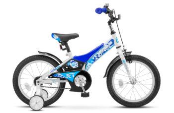 "Jet 16 Z010 white blue 350x228 - Велосипед Стелс (Stels) Jet 16"" Z010, Сталь , р 9"", цвет    Белый/синий"