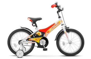 "Jet 16 Z010 white red 350x228 - Велосипед Стелс (Stels) Jet 16"" Z010, Сталь , р 9"", цвет   Белый/красный"