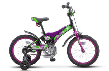 "Jet 16 Z010 Black Green 1 1 350x228 - Велосипед Стелс (Stels) Jet 16"" Z010, Сталь , р 9"", цвет   Чёрный/зелёный"