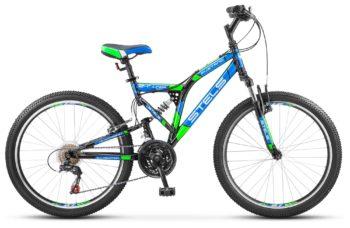 """Mustang V 24 V030 Black Green Blue 350x228 - Велосипед Стелс (Stels) Mustang V 24"""" V020, Сталь , р16"""", цвет  Неоновый-зелёный"""