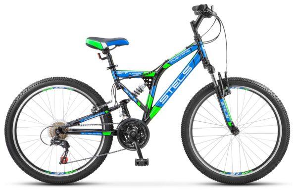 """Mustang V 24 V030 Black Green Blue 600x390 - Велосипед Стелс (Stels) Mustang V 24"""" V020, Сталь , р16"""", цвет  Неоновый-зелёный"""