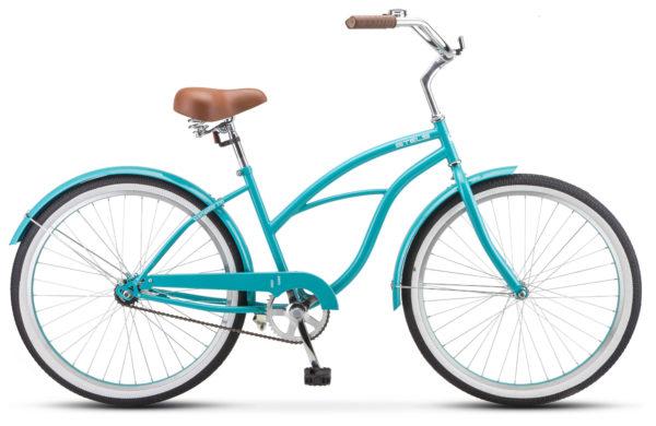 "Navigator 110 Lady 26 1 sp V010 sea green 600x390 - Велосипед Стелс (Stels) Navigator-110 Lady 26"" 1-sp V010, Сталь , р. 17"", цвет Морская-волна"