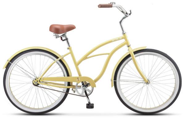 "Navigator 110 Lady 26 1 sp V010 yellow sandy 600x390 - Велосипед Стелс (Stels) Navigator-110 Lady 26"" 1-sp V010, Сталь , р. 17"", цвет Жёлтый песок"
