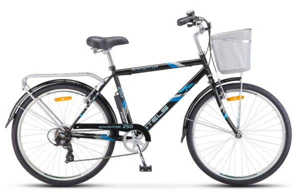 "Navigator 250 Gent 26 Z010 black 600x390 - Велосипед Стелс (Stels) Navigator-250 Gent 26"" Z010 , Сталь , р. 19"", цвет  Чёрный"