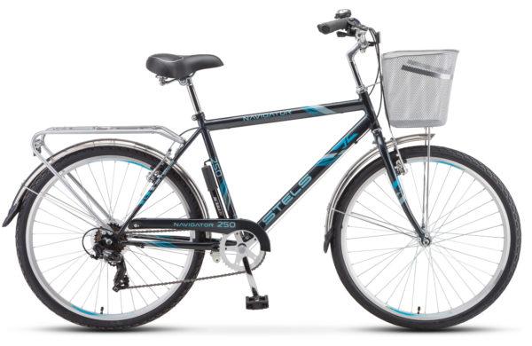 """Navigator 250 Gent 26 Z010 gray 2018 600x390 - Велосипед Стелс (Stels) Navigator-250 Gent 26"""" Z010 , Сталь , р. 19"""", цвет  Серый"""