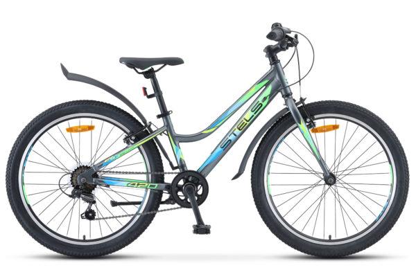 """Navigator 420 V 24 V030 gray matt 600x390 - Велосипед Стелс (Stels) Navigator-420 V 24"""" V030, Алюминий , р12"""", цвет  Серый"""