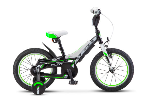 "Pilot 180 16 V010 black green 600x390 - Велосипед Стелс (Stels) Pilot-180  18"" V010, Алюминий , р 10,5"", цвет   Чёрный/зелёный"