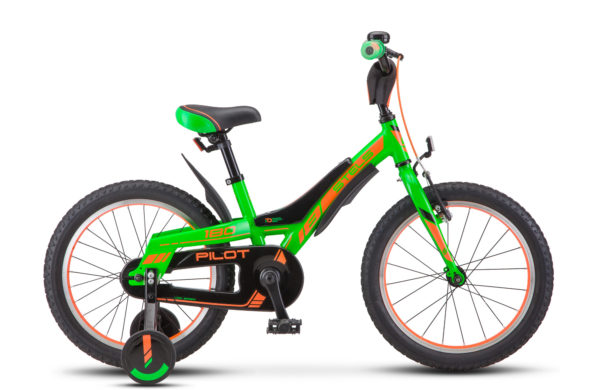 "Pilot 180 18 V010 green orange 600x390 - Велосипед Стелс (Stels) Pilot-180 16"" V010, Алюминий , р 8,5"", цвет   Зелёный"