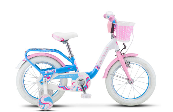 "Pilot 190 16 V030 white pink light blue 600x390 - Велосипед Стелс (Stels) Pilot-190 16"" V030, Алюминий , р 8,5"", цвет     Белый/розовый/голубой"