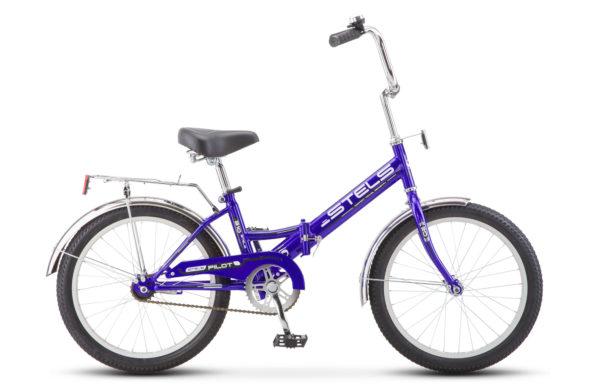 """Pilot 310 20 Z011 blue black2018E 600x390 - Велосипед Стелс (Stels) Pilot-310 20"""" Z011, Сталь , р13"""", цвет   Баклажановый"""