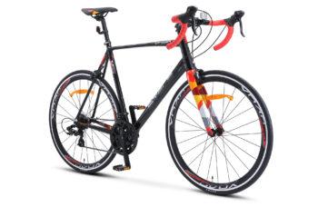 """XT280 28 V010 black red 2 350x228 - Велосипед Стелс (Stels) XT280 28"""" V010  700С , Алюминий X6, р. 24"""", цвет  Чёрный/красный"""