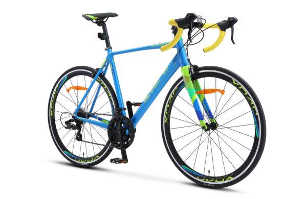 "XT280 28 V010 blue yellow 2 600x390 - Велосипед Стелс (Stels) XT280 28"" V010  700С , Алюминий X6, р. 20"", цвет  Синий/жёлтый"