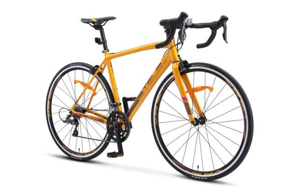 "XT300 28 V010 golden black 2 600x390 - Велосипед Стелс (Stels) XT300 28""  V010  700С , Алюминий X6, р. 20"", цвет  Золотистый/чёрный"